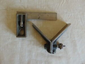 Vintage L s s Co 4 Starrett Double Square Center Head