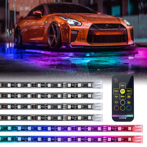 Xprite Retro Rgb Led Strip Under Car Underglow Dancing Lights Remote Control
