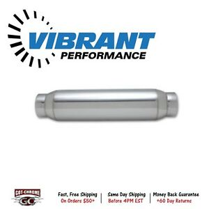 1794 Vibrant Performance Exhaust Bottle Style Resonator 3 0 Inch 3 Inlet X 12