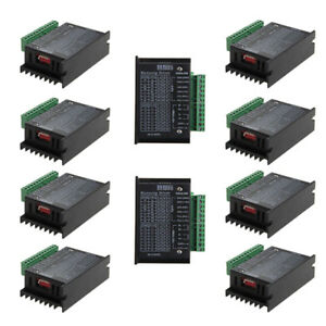 10x Cnc Single Axis 4a Tb6600 2 4 Phase Hybrid Stepper Motor Controller Drivers