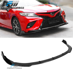 Fits 18 19 Toyota Camry Se Front Bumper Lip Gloss Black Pp