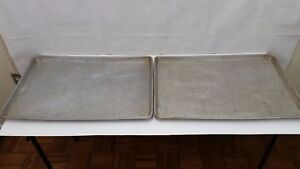 Lot Of 2 Ecko Aluminum Commercial Sheet Baking Oven Pan 25 X 17 Inches Xl Sh