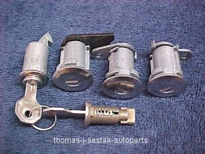New 68 69 Amc Amx Javelin Rebel Trunk Glove Door Ignition Locks All On One Key