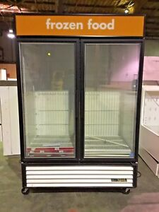 True Two Glass Door Freezer Gdm 49 Merchandiser
