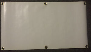 2 X 4 Blank Vinyl Banner 13 Oz White With Grommets Pack Of 5 Free S h