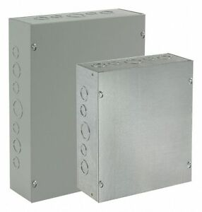 Hoffman 6 h X 6 w X 3 d Metallic Enclosure Gray Knockouts Yes Screws Closure