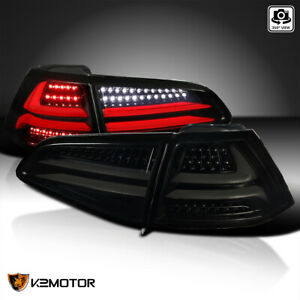 For 2015 2017 Volkswagen Golf Gti Black Smoke Led Drl Bar Tail Lights Lamps L r