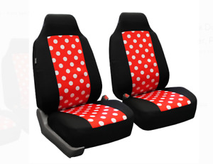 Stylish Polka Dot Front High Back Car Truck Suv Bucket Seat Cover