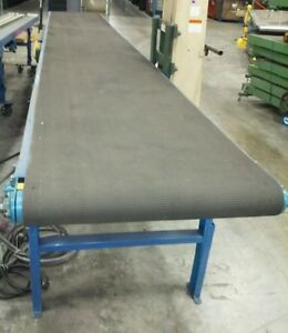 34 X 21 Hytrol Brand Powered Belt Conveyor 230 Vac With Variable Speed Drive