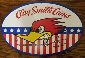 Clay Smith Cams Mr Horsepower Woody Wood Pecker Decor Plaque Racing Hot Rod Logo