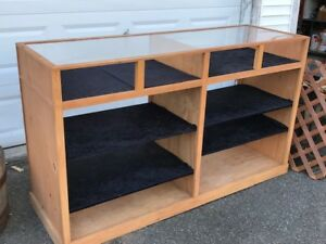 2 Retail Store Showcases Solid Wood Pine Plywood Adjustable Shelves Pickup Only