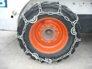 10 16 5 Skidloader Skidsteer Tire Chains Case Hardened Traction Tire pair