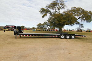 Pj Trailer 40ft Gn Car Hauler 3 7k Dexter Axles 4ft Dove Tail Slide In Ramps