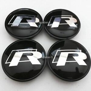 New Black 65mm R Wheel Cap Rline Wheels Center Caps