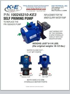 Hydraulic Self priming Water Slurry Pump By K e Technical For Mining Machines