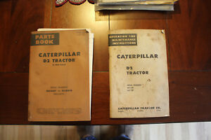 Caterpillar D2 Tractor Servicemens Operation Parts Books