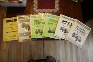 6 Vintage Kubota Tractor dozer Front End Loader Manuals