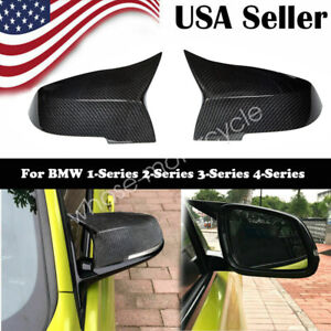 Pair Carbon Fiber Side Mirror Cover Cap For Bmw F30 F31 F34 2012 2018