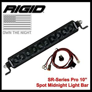 Rigid Industries Light Bar 10 Inch Led Blacked Out Sr series Pro 910213blk