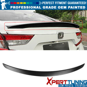 Fits 18 19 Honda Accord V3 Style Rear Trunk Spoiler Lip Abs Oem Painted Color