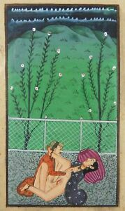 Erotic Indian Miniature Painting Kamasutra India K46