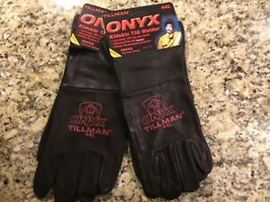 Tillman 44 Large Tig Welding Gloves Onyx Top Grain Kidskin Leather 2 Pair