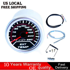 52mm 2 Car Led Exhaust Gas Temperature Temp Egt Gauge Meter Pointer Sensor