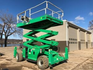 2012 Jlg 3394rt Scissor Lift 33 Extendable Platform Aerial Man Lift