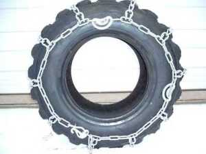 12 16 5 Skidloader Skidsteer Tire Chains Case Hardened Traction Tire pair