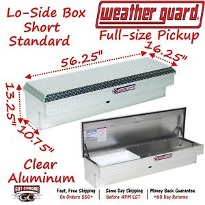 174 0 01 Weather Guard Polished Aluminum Lo side Mount 56 Truck Toolbox