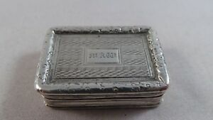 Superb Antique Sterling Silver Vinaigrette Birmingham 1824