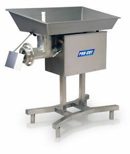 Commercial 32 Butcher Meat Grinder 5 Hp 3840 Lbs Pr 220 V 3 Phase S s Stand