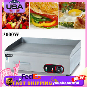 Flat Top Bbq Plate 3000w Electric Griddle Grill Commercial Teppanyaki Restaurant