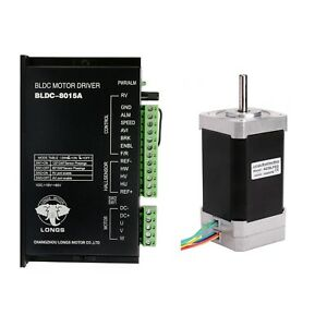 Us Free Ship Brushless Dc Motor Nema17 78w 24v 4000rpm 79mm driver Cnc Medical