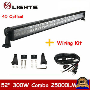 42inch 4d 240w Combo Led Light Bar Offroad Driving Lamp Suv 40 41 Free Wire Kit