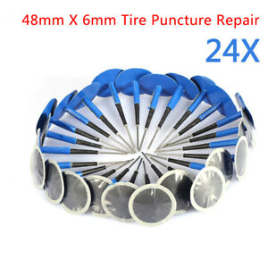 24x Auto Car Truck Tire Tyre Puncture Repair Wired 48mm 6mm Plug Mushroom Patch