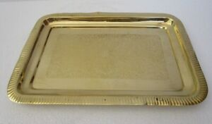 Large Antique Style Brass Tray Fully Brass Made 752