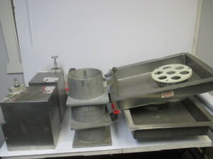 Huge Lot Of Patty o matic Burger Meat Patty Maker Parts Pan Tray Grinder