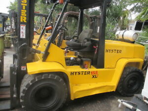 Hyster H155xl2 15000 Lb Lpg Dual Wheel Forklift 181 Height Solid Pneumatic