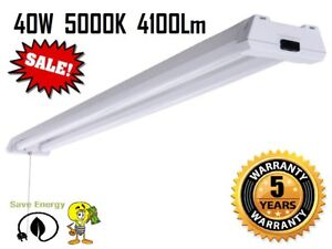 4 40w 5000k Daylight 4100lm Led Garage Repair Shop Basement Paint Booth Light
