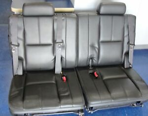 Chevy Suburban Gmc Cadillac Escalade Black Ebony Leather 3rd Row Seats 2007 2014