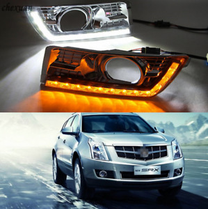Led Daytime Running Light For Cadillac Srx 2012 2014 Fog Lamp Drl With Turn Lamp