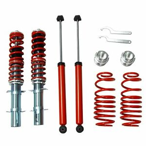 Fits 1999 2005 92 05 Vw Mk4 Golf Gti Jetta Street Coilover Kit Red Brand New