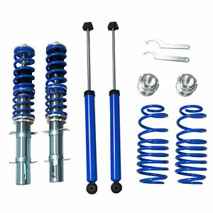 For 1999 2005 Vw Golf Gti Jetta New Beetle Street Coilover Kit Blue 99 05