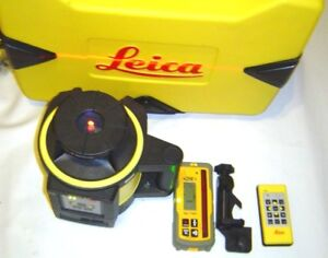 Leica Rugby 840 Rotary Laser W Alkaline Battery Pack W Hl750 Universal Receiver