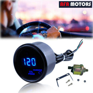 Universal 2 52mm Digital Led Electronic Oil Pressure Gauge Sensor Meter Kit