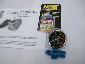 Wow Nos Nx Zex Edelbrock Chrome Nos Sniper Nitrous Gauge 4an Swivel Fitting New