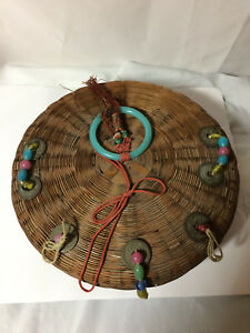 Vintage Antique Chinese Sewing Basket 9 With Beads