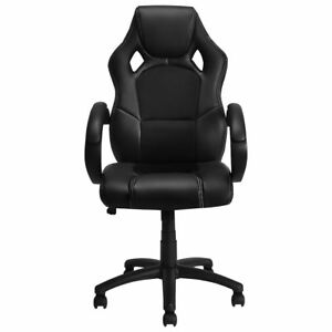 High Back Race Car Style Bucket Seat Office Desk Chair Gaming Chair Black