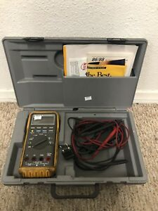 Fluke 88 Automotive Multimeter With Leads And Case Free Shipping